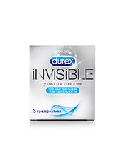 Durex Invisible, 3 шт.